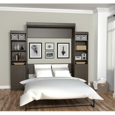 Beecroft Murphy Bed Size: Queen, Headboard Color: Dark Chocolate