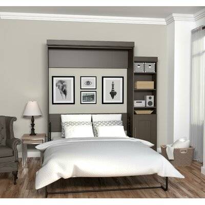 Beecroft Murphy Bed With Bookcase Size: Queen, Headboard Color: Dark Chocolate