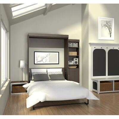 Beecroft Murphy Bed With Bookcase Size: Full, Headboard Color: Dark Chocolate