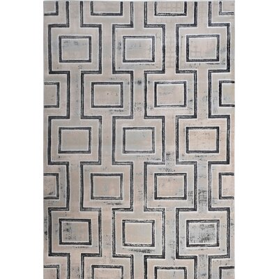 Dean Cream/Gray Area Rug Rug Size: 710 x 102
