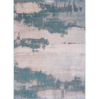 Elliot Turquoise Indoor/Outdoor Area Rug Rug Size: 79 x 102