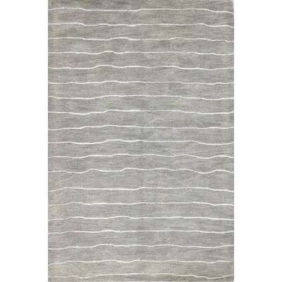 Hand-Tufted Taupe Area Rug Rug Size: 56 x 86