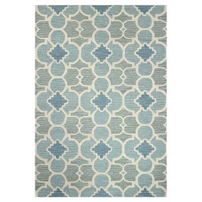 Bantice Hand-Tufted Aqua Area Rug Rug Size: Rectangle 8 x 11