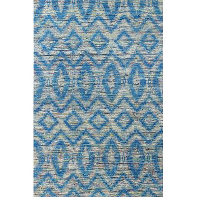 Barbuda Hand-Woven Blue Area Rug Rug Size: Rectangle 59 x 89