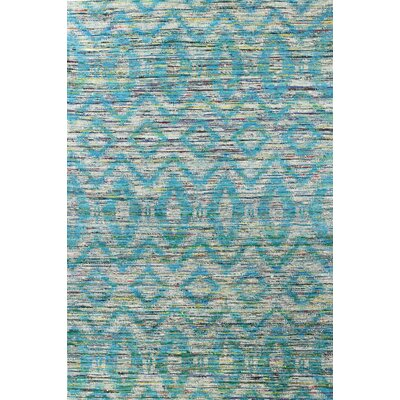Barbuda Hand-Woven Green Area Rug Rug Size: Rectangle 76 x 96