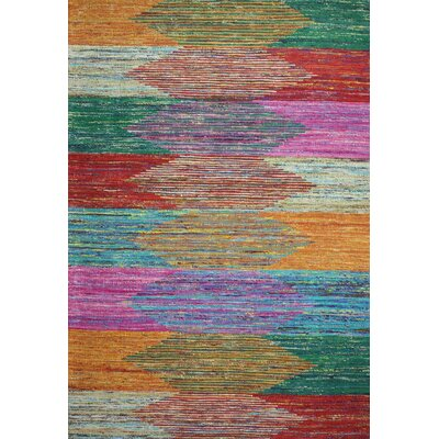 Barbuda Hand Woven Multicolor Area Rug Rug Size: Rectangle 59 x 89