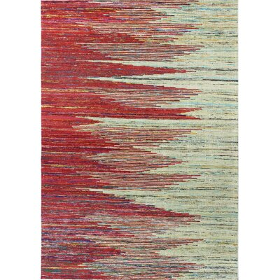 Barbuda Hand Tufted Red/Beige Area Rug Rug Size: 59 x 89