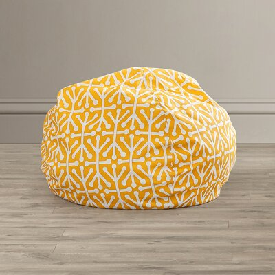 Medium Polyester Bean Bag Chair Upholstery: Citrus