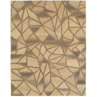 Cecelia Hand-Crafted Beige Area Rug Rug Size: 79 x 99