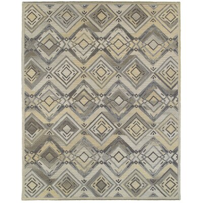 Cecelia Hand-Crafted Gray Area Rug Rug Size: 89 x 119