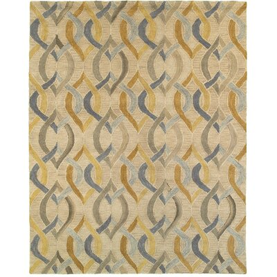 Cecelia Hand-Crafted Gold Area Rug Rug Size: 89 x 119