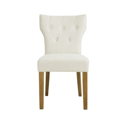 Celeste Side Chair Upholstery: Cream