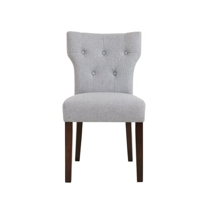 Celeste Side Chair Upholstery: Grey