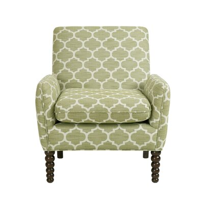 Celina Split Arm Chair Color: Green