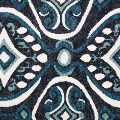 Charlotte Brown/Blue Area Rug Rug Size: 5' x 7'