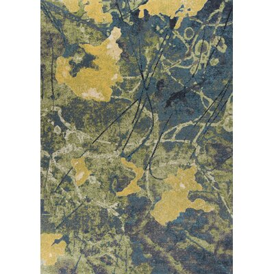 Waverton Blue/Green Area Rug Rug Size: 53 x 77