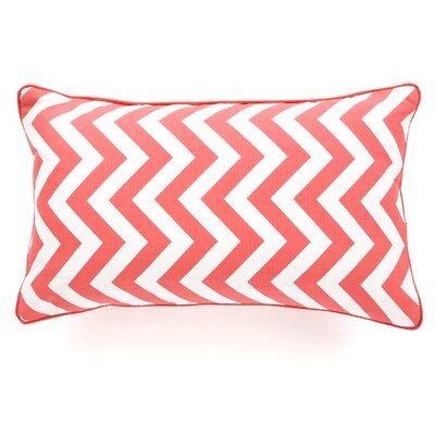 Barbara Zig Zag Cotton Lumbar Pillow Size: 12 x 20, Color: Peach