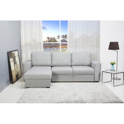 Shenandoah Reversible Sleeper Sectional Upholstery: Mist