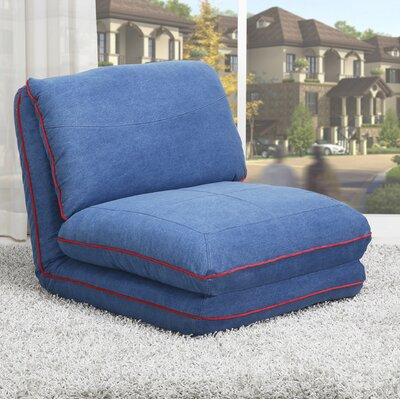 Smithfield Convertible Chair Bed Color: Royal Blue