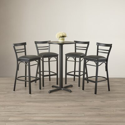 Brodeslavy 5 Piece Pub Table Set Color: Mahogany