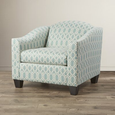 Bella Armchair Color: Geo Aqua