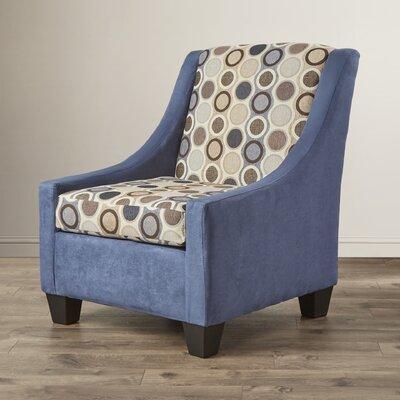 Belinda Arm Chair Color: Navy