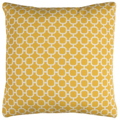 Brano Indoor/Outdoor Polyester Throw Pillow Color: Yellow/White
