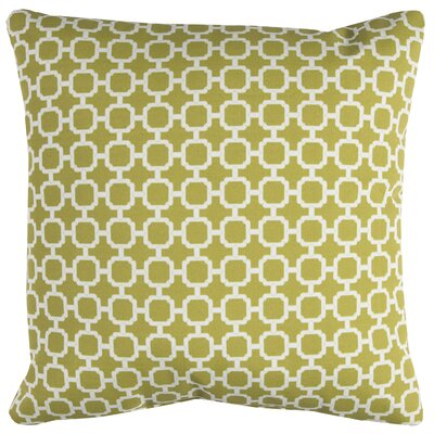 Brano Indoor/Outdoor Polyester Throw Pillow Color: Green/White