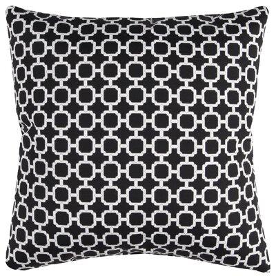Brano Indoor/Outdoor Polyester Throw Pillow Color: Black/ White