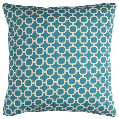 Brano Indoor/Outdoor Polyester Throw Pillow Color: Teal/White