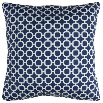 Brano Indoor/Outdoor Polyester Throw Pillow Color: Navy/White