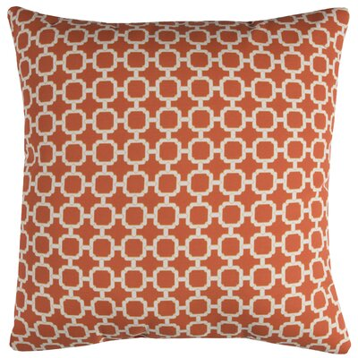 Brano Indoor/Outdoor Polyester Throw Pillow Color: Orange/White