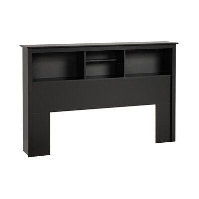 Wanda Bookcase Headboard Size: Queen, Finish: Black