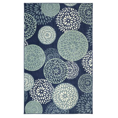 Goose Point Blue Area Rug