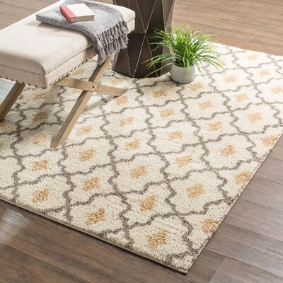 Seabury Beige Area Rug Rug Size: Rectangle 8 x 10