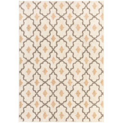Brano Beige Area Rug Rug Size: 5 x 7