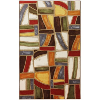 York Red/Brown Area Rug Rug Size: 5 x 8