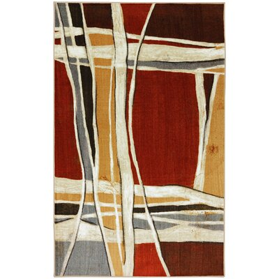 York Red Area Rug Rug Size: 5 x 8