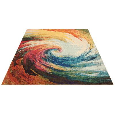 Abertamy Wave Area Rug Rug Size: Rectangle 53 x 73