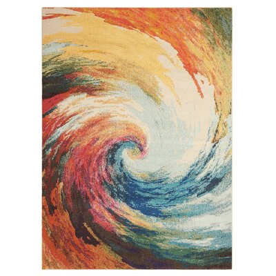 Abertamy Wave Area Rug Rug Size: 3'11