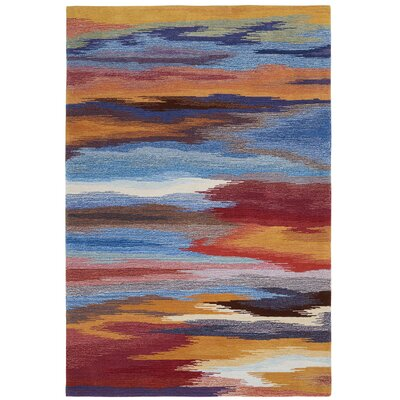 Akuna Hand-Tufted Sunset Area Rug Rug Size: 73 x 93