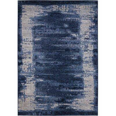 Alojzov Blue Area Rug Rug Size: 53 x 74