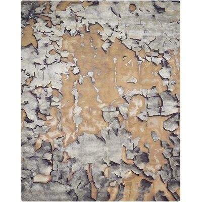 Annan Beige/Silver Area Rug Rug Size: 56 x 75