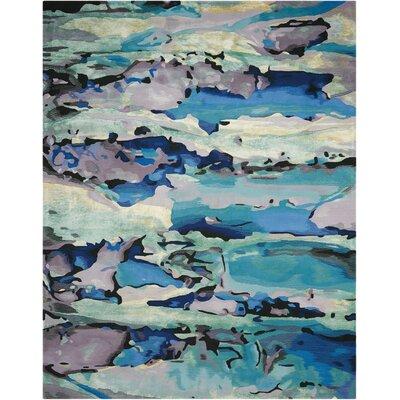 Annan Handmade Blue Area Rug Rug Size: 56 x 75