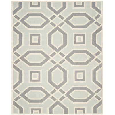 Arthur Hand-Tufted Grey / Ivory Area Rug Rug Size: Rectangle 8 x 10