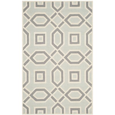 Arthur Hand-Tufted Grey / Ivory Indoor Area Rug Rug Size: Rectangle 5 x 8
