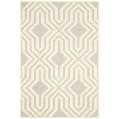 Arthur Hand-Tufted Gray / Ivory Area Rug Rug Size: 4 x 6