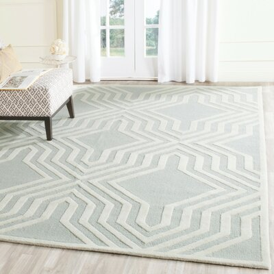 Arthur Hand-Tufted Gray / Ivory Area Rug Rug Size: Rectangle 4 x 6