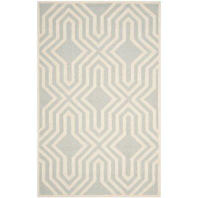 Arthur Hand-Tufted Gray / Ivory Area Rug Rug Size: 5 x 8