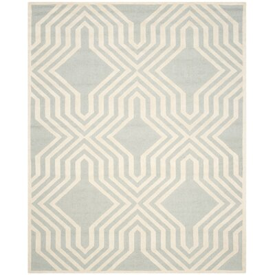 Arthur Hand-Tufted Gray / Ivory Area Rug Rug Size: 8 x 10